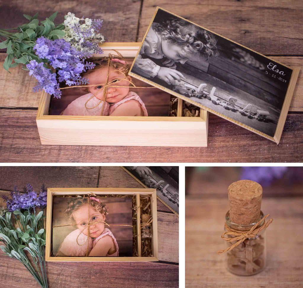 Caja fotografía de bautizo