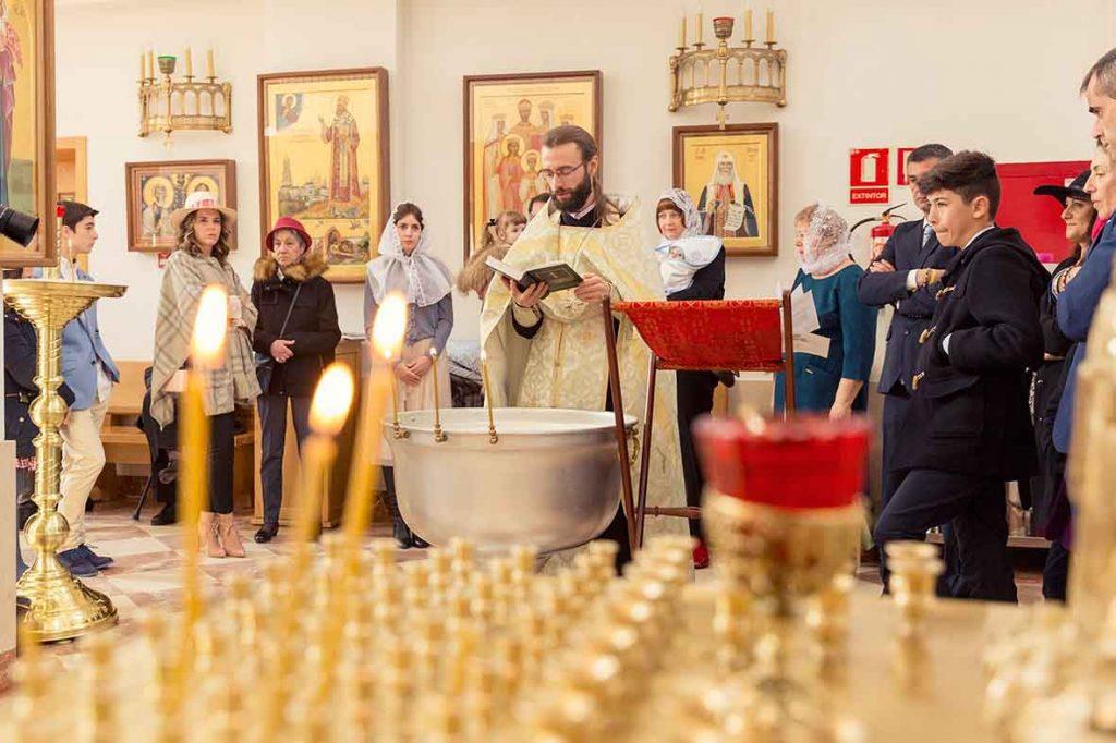 Fotografía de bautizo ortodoxo